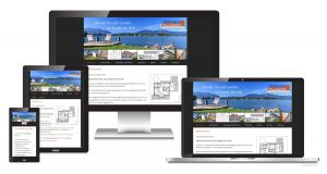responsive Webseite - Bauunternehmen