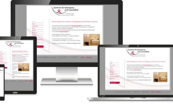 Webdesign für Physiotherapie