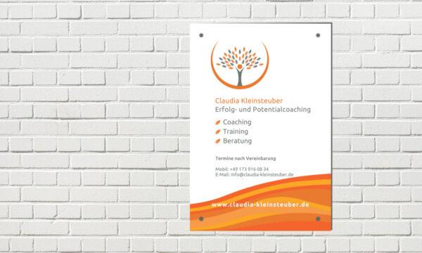 Praxisschild Coaching Praxis